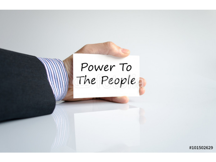 Fototapeta Power to the people text concept 64238