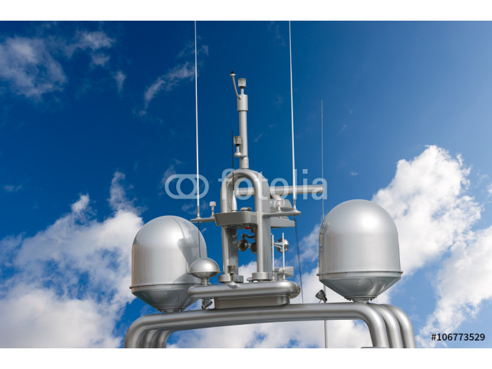 Radar and Communication Tower on a Yacht 64238