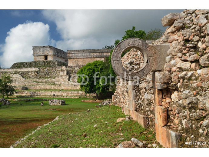 Ring Mayan ball game in the ancient city of Uxmal 64238