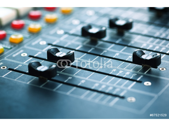 buttons equipment for sound mixer control 64238