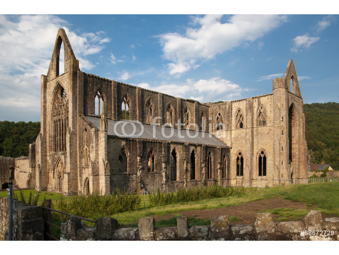 Wallpaper Tintern abbey cathedral ruins. Abbey was established at 1131.   64238