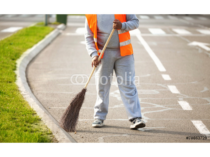 Road Series: Sweeping on the street 64238
