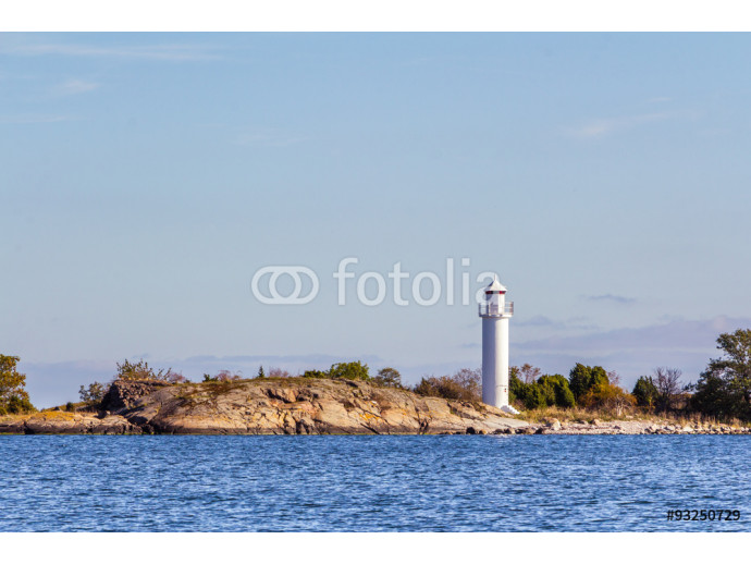 Lighthouse at the coast of Sweden in the Baltic sea 64238
