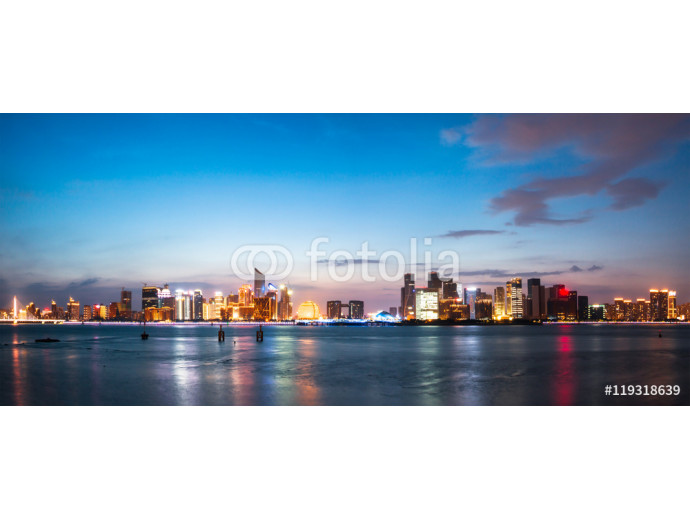 cityscape and skyline of hangzhou from water 64238