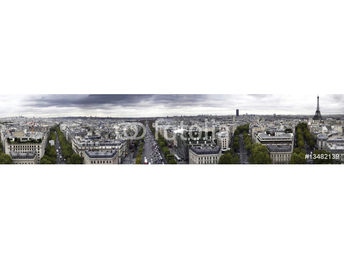 Paris panorama Arc de Triomphe 64238