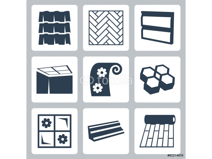 Vector building materials icons set 64238