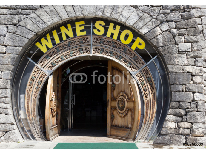 Front of a Wine Shop in Montenegro 64238