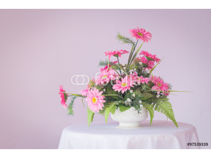 artificial flowers made from Plastic in vase 64238