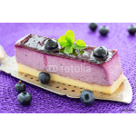 Blueberry mouse cake on old antique cake slicer 64238