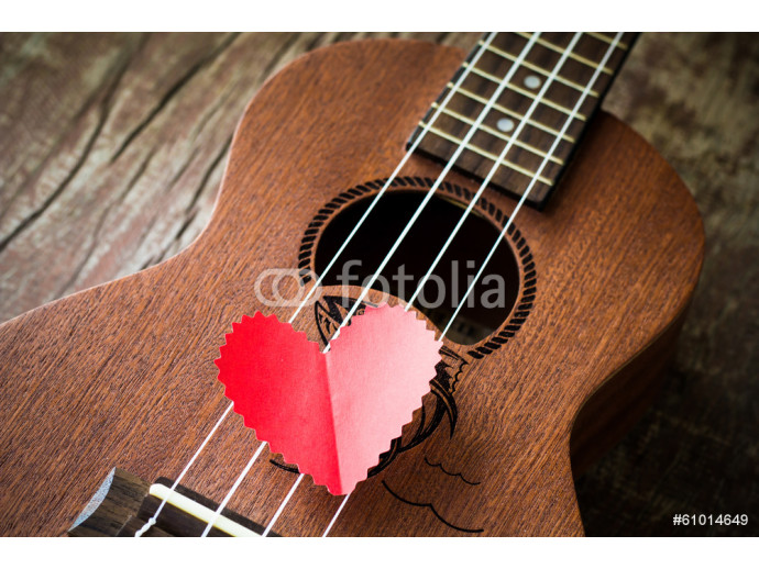 The retro guitar for the lover in Valentine's day. 64238