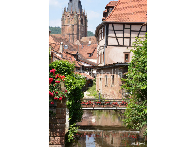 Fotomurale France, the picturesque city of Wissembourg in Bas Rhin 64238