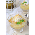 Pear Dessert with Ice-Cream and Caramel Sauce 64238