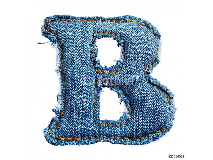 One letter of jeans alphabet 64238