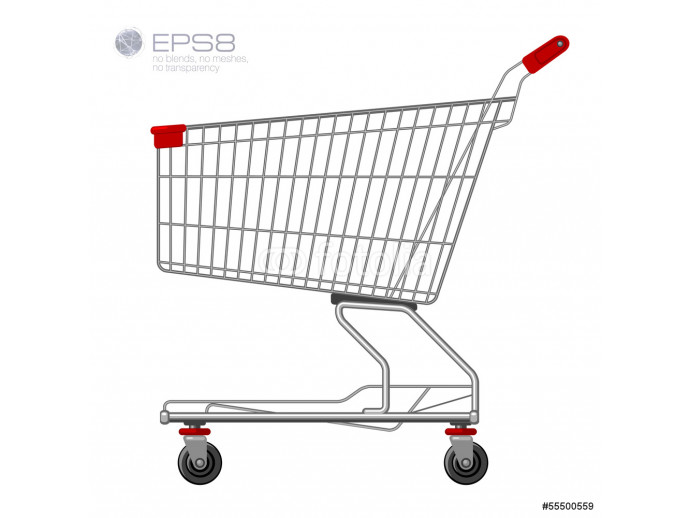 Shopping supermarket cart. Vector. 64238