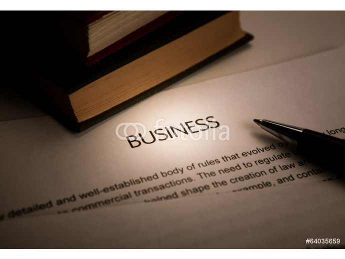 Vliestapete document with the title of business 64238