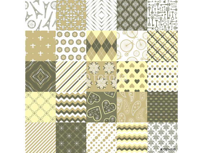 Seamless pattern big set in pastel beige colors. 64238