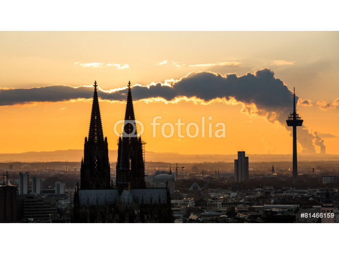 cologne cathedral cloud sundown 64238