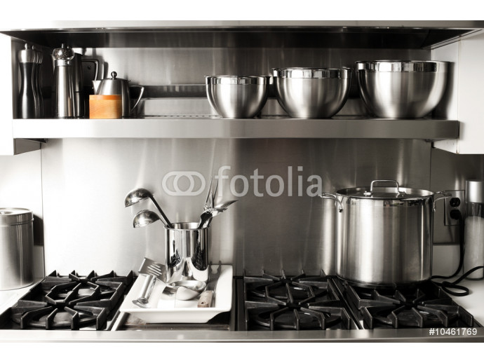 quite new kitchen stuff in silver black colors 64238