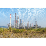gas processing factory. landscape with gas and oil industry 64238