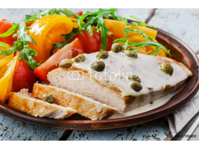 chicken fillet with caper sauce 64238