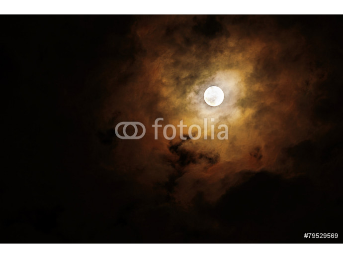 Blurred - dark stormy sky with moon 64238