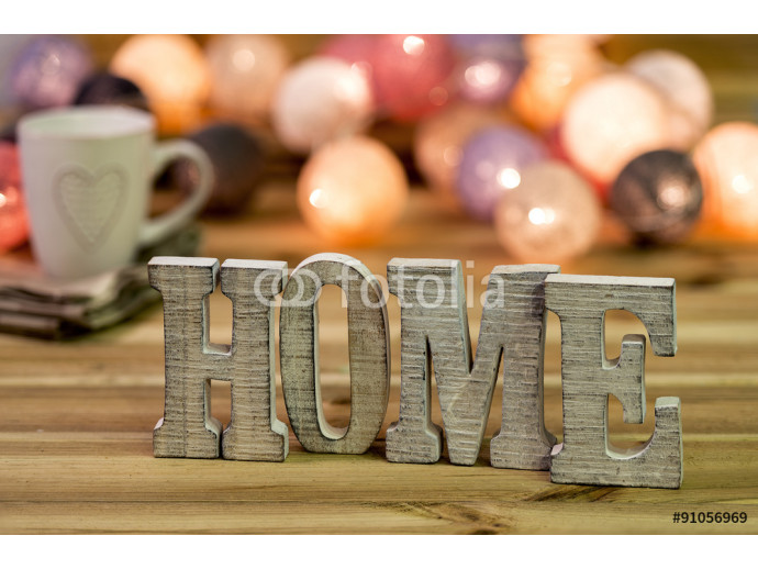 "For home decorating inside; letters of ""home"" 64238"