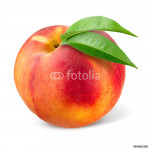 Peach. Fruit isolated on white. 64238