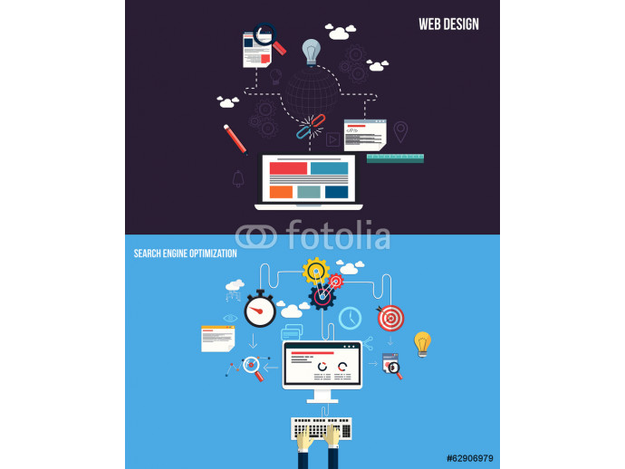 Icons for graphics seo and web design. Flat style. Vector 64238
