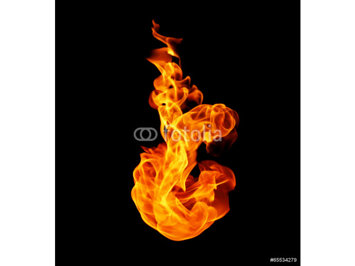 Fire flames collection isolated on black background 64238