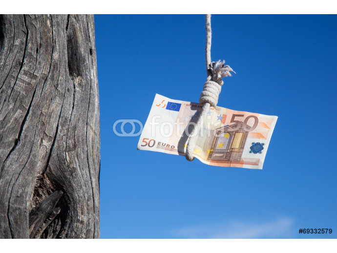 Wallpaper hanging fifty Euro 64238