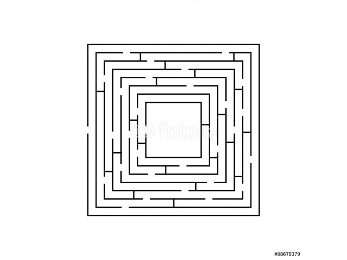 circular maze that is in the form of a square black on white 64238