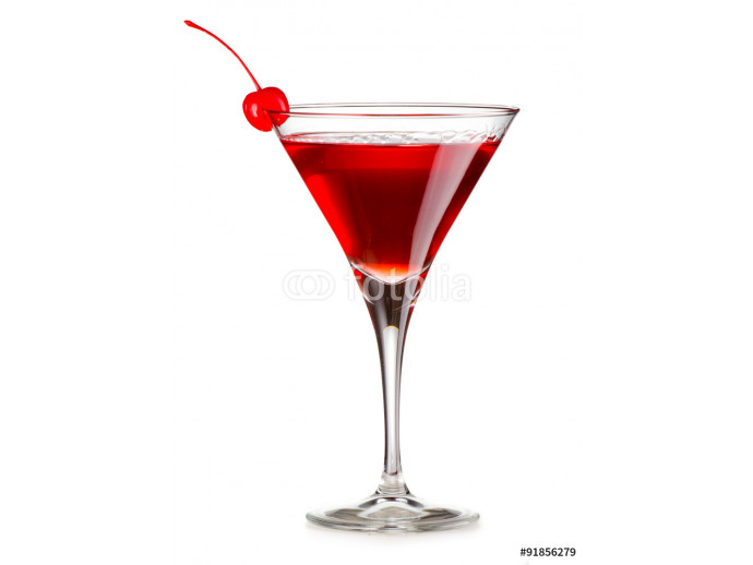 Papier peint moderne Cosmopolitan cocktail with cherry isolated 64238