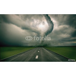 large tornado over the road (3D rendring) 64238
