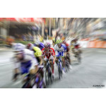 blurry Asian Cycling Championship during the race for background 64238