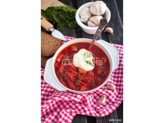 Red borsch with sour cream 64238