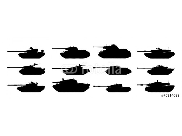 Tanks silhouettes set. Vector EPS10. 64238
