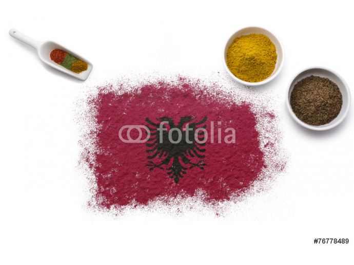 Spices forming the flag of Albania.(series) 64238