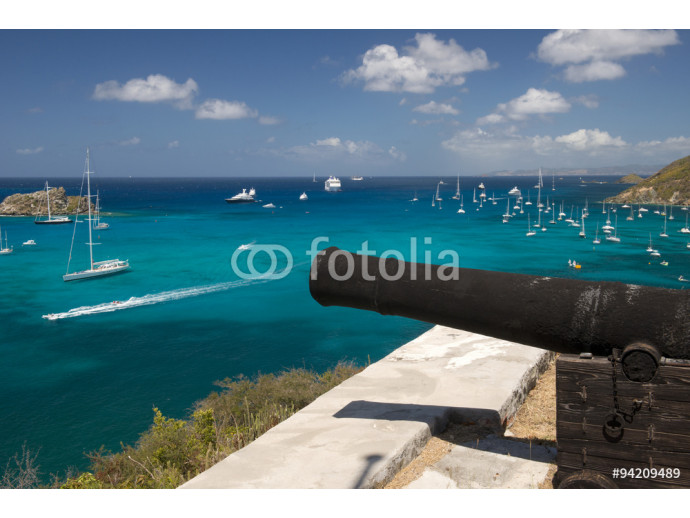 Canons on the hill at St. Barth island, Caribbean sea 64238