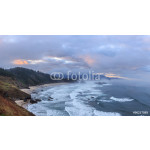 View from Ecola State Park to Cannon Beach in Pacific Ocean, Oregon Coast. USA 64238