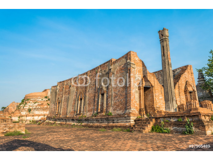 Wallpaper Wat Kudi Dao old temple. Asian religious architecture. Ancient p 64238