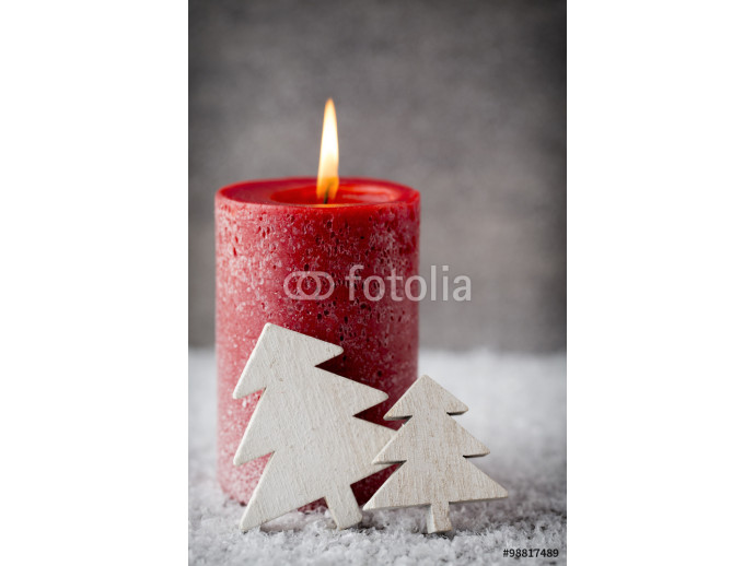 Christmas candles and lights. Christmas background. 64238