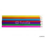 Colorful pencils, isolated on white 64238