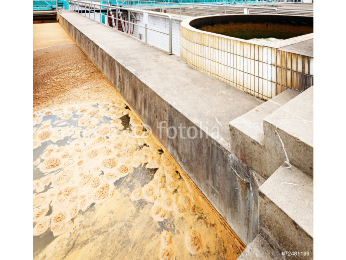 Modern urban wastewater treatment plant 64238