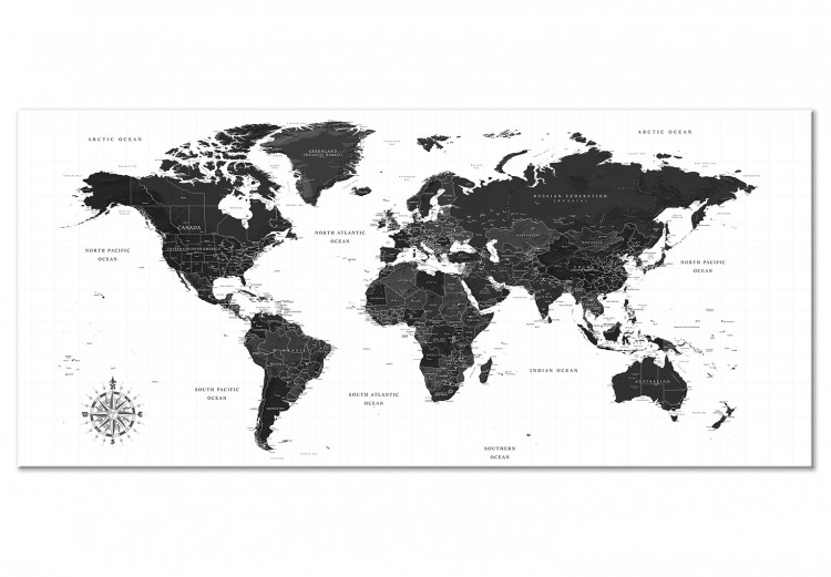 Black and White Map (1 Part) Narrow