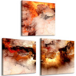 Cuadro decorativo Volcanic Abstraction (3 Parts) Square 129748 additionalThumb 2