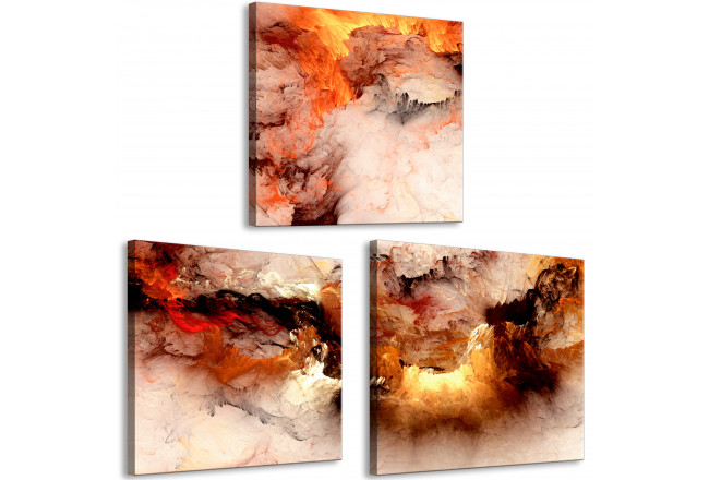 Cuadro decorativo Volcanic Abstraction (3 Parts) Square 129748 additionalImage 2