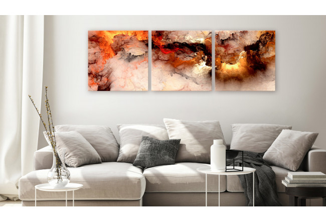 Cuadro decorativo Volcanic Abstraction (3 Parts) Square 129748 additionalImage 3