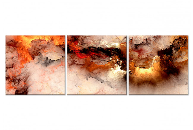 Cuadro decorativo Volcanic Abstraction (3 Parts) Square 129748