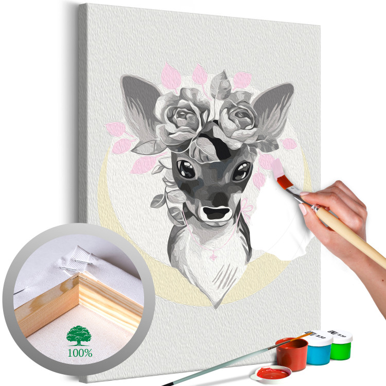 Doe with Flowers