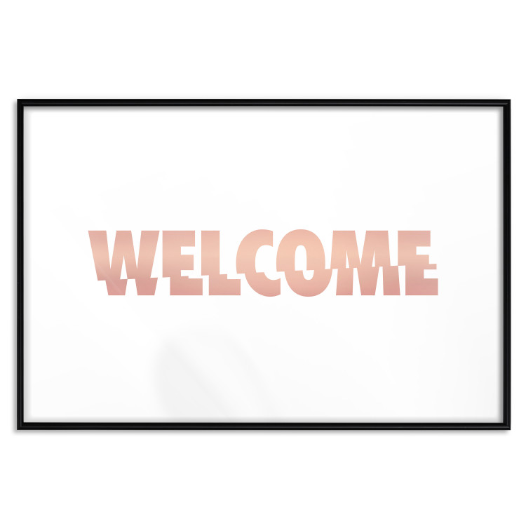 Welcome [Deco Poster - Rose Gold]